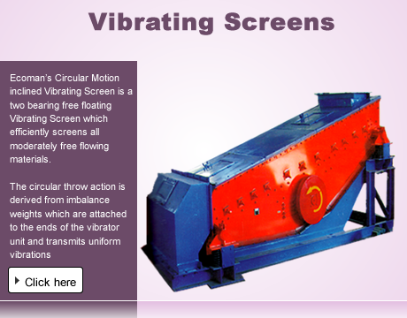 Vibrating Screens Manufacturers